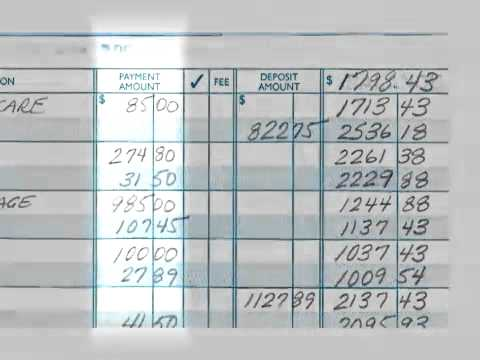 how to make a checkbook