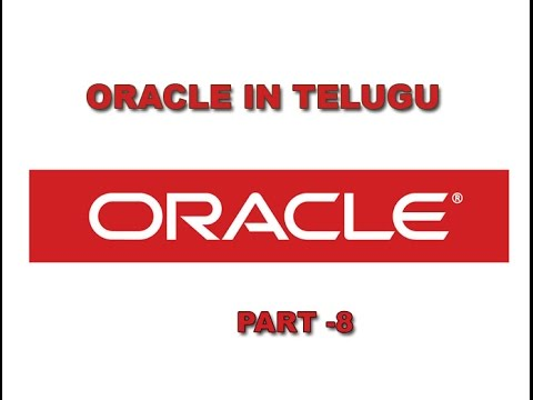 Oracle In Telugu CREATE, INSERT and SELECT commands Part 8