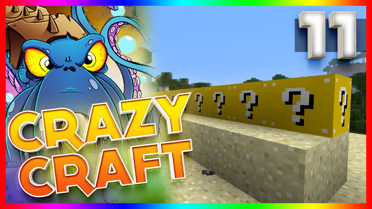 play crazy craft minecraft craft 2 2 ep11 lucky block race 2713