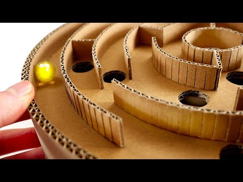 How To Make Genius Maze Game From Cardboard At Home