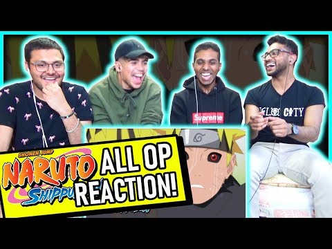 NARUTO SHIPPUDEN OPENINGS 1-20 REACTION (All Openings)! Anime Reaction #1