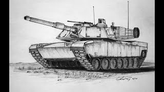 How To Draw A M1 Abrams Tank