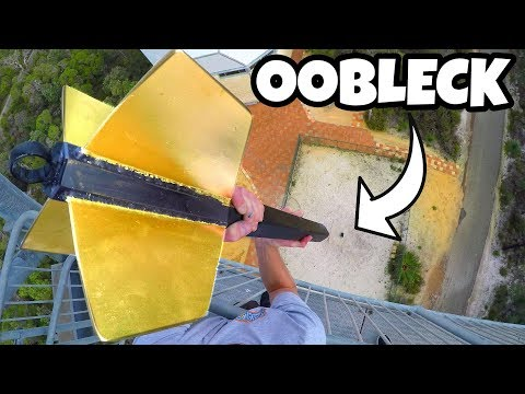 GIANT DART Vs. OOBLECK from 45m!