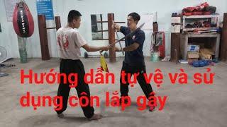 hướng dẫn tự vệ côn nhị khúc lắp gậy(chống đao)_Toankungfu