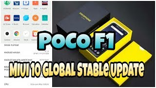 POCO F1 MIUI 10 Global Stable Update