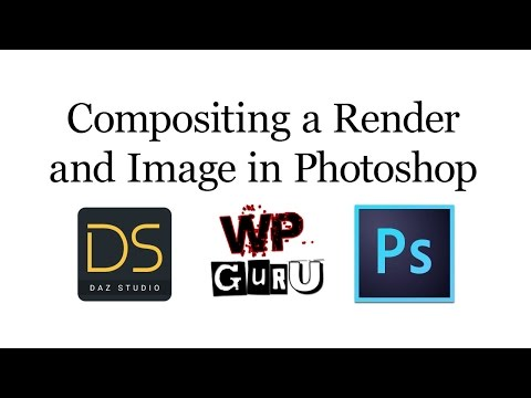 Combining a DAZ Studio Render and a background image in Photoshop
