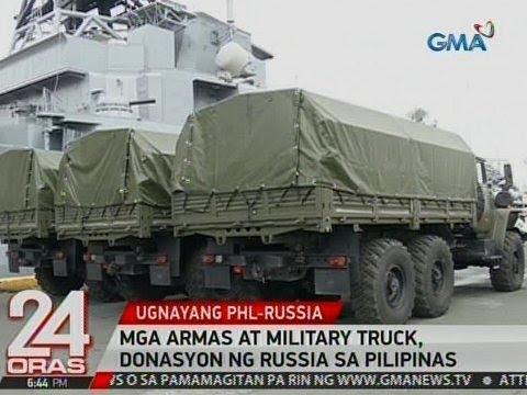 24 Oras: Mga armas at military truck, donasyon ng Russia sa Pilipinas