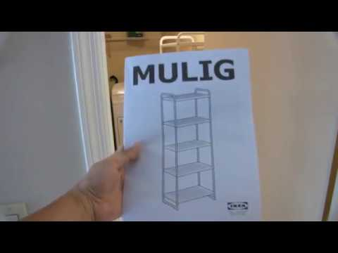 assembling ikea mulig shelf unit youtube. Black Bedroom Furniture Sets. Home Design Ideas