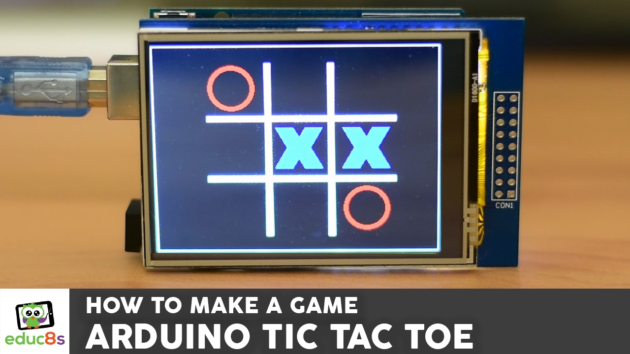 Arduino game project tic tac toe with a touch screen