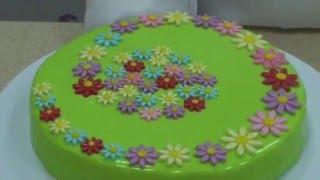 Красивый торт за 5 минут, 3 варианта украшения торта готовым декором(, 2016-04-15T05:31:43.000Z)