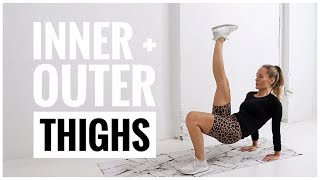 Inner + Outer THIGH SLIMMING Workout // No Equipment