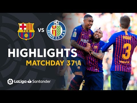 Highlights FC Barcelona Vs Getafe CF (2-0)