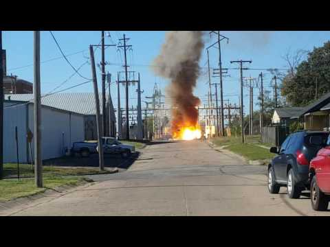 Wellington KS Power Plant on fire 11-10-16
