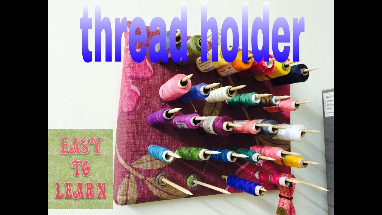 Thread spool organizer holder best out of waste easy to for Easy waste out of best