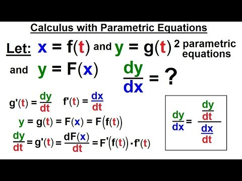 Calculus 2: Parametric Equations (15 of 20) Calculus with Parametric Equations