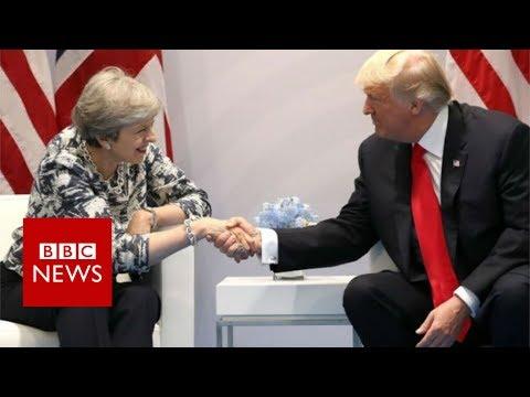 G20 SUMMIT: Donald Trump meets Theresa May - BBC News