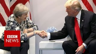 G20 SUMMIT: Donald Trump meets Theresa May - BBC News