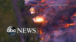 Video shows lava overtaking Hawaii home