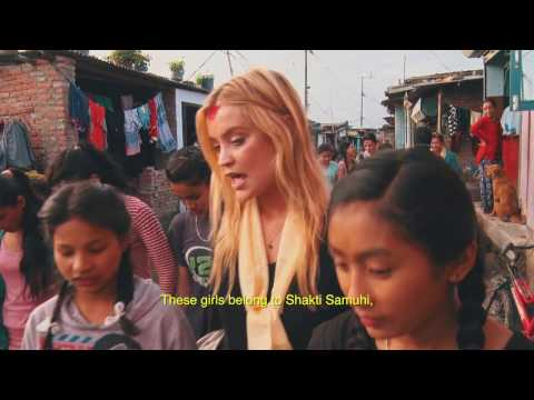 Laura Whitmore moved to tears by brave teen in Nepal #EmergencyLessons