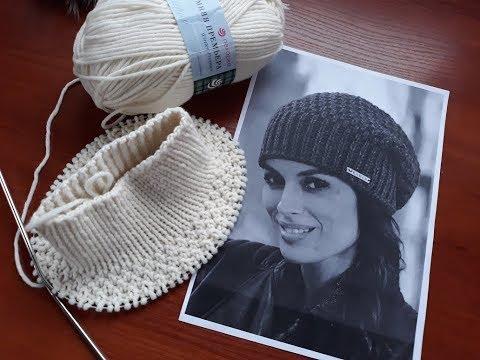 Вязание женской шапки спицами схемы с фото