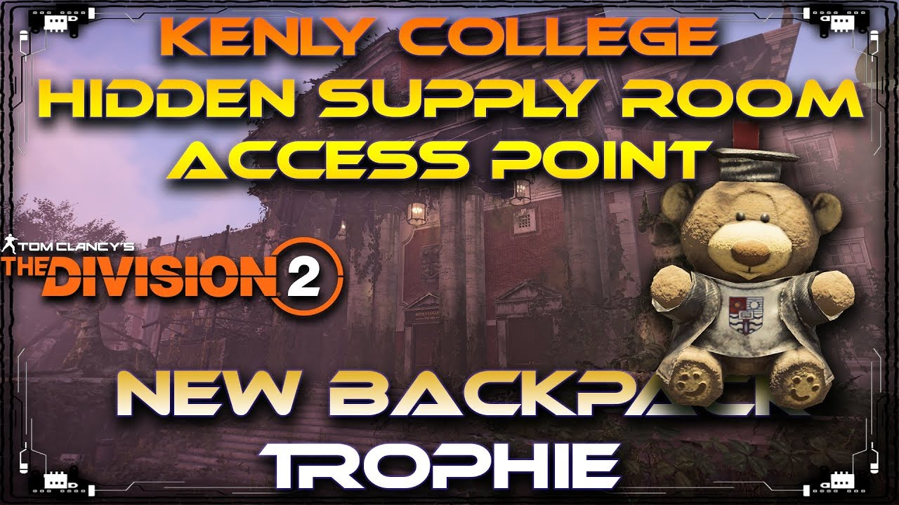 Kenly College Student Union Hidden Supply Room   Throwback Tommy Backpack Trophy The Division 2 - YouTube