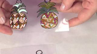 Shrink Film Pineapple Earrings
