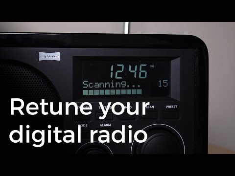 Retune your DAB digital radio for new stations