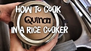 COOK WITH ME | QUINOA IN A CROCKPOT
