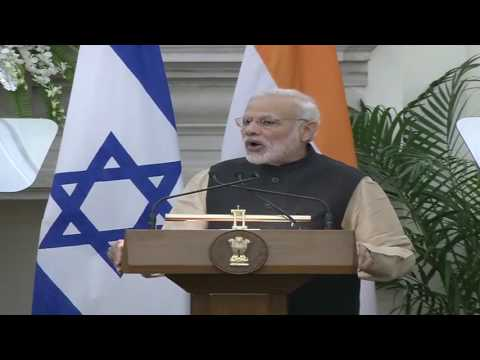 Signing of Agreements and Press Statement : Visit of President of Israel to India