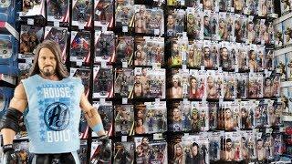 TOY HUNT!!! SURPRISED BY AJ STYLES!!! Elite 65 & Elite 66 WWE Action Figure Fun #119