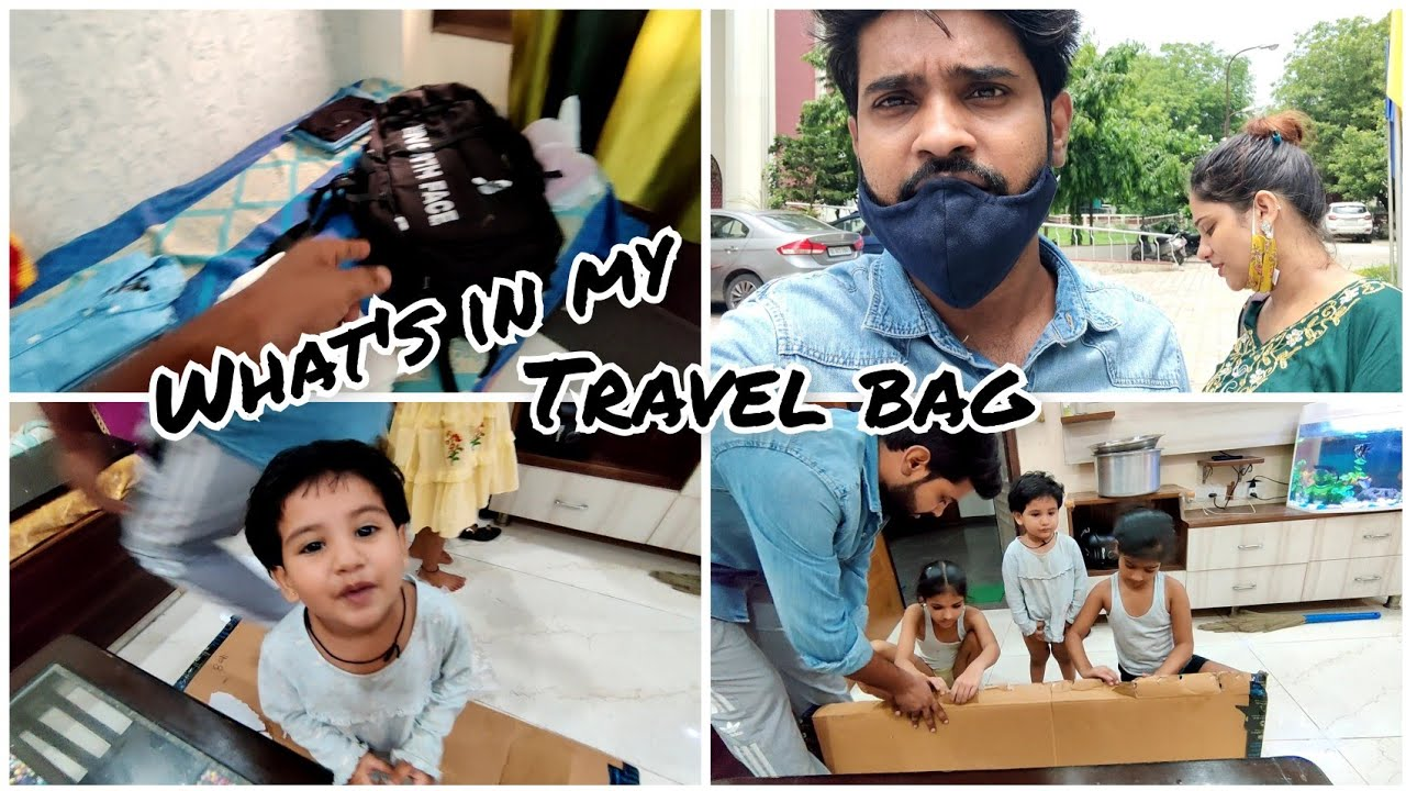 beta dhyaan se jana 🥺 || what's in my travel bag 😍