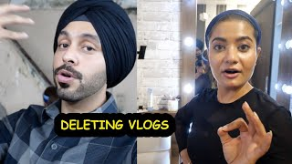 Deleting My Vlogs From Channel 😞   Teena Chhetri   SahibNoor Singh