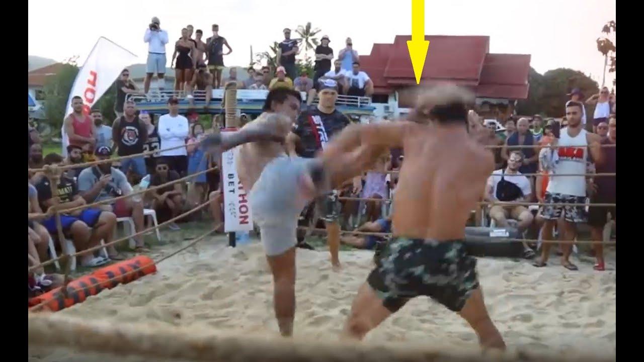 Võ MMA đấu Muay Thái | Cú headkick quá sớm đã quyết định trận đấu