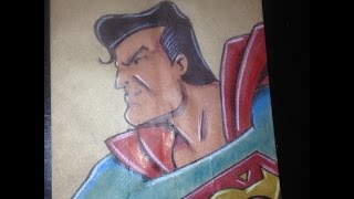 Speed Drawing Superman: 4th Grade Lunchbag #61