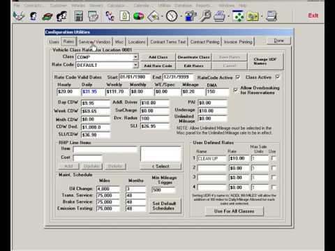 EzTraker Car Rental Reservation Software - Configuration