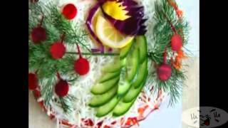 Красивая сервировка праздничного стола. Украшение праздничных блюд.