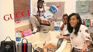 BLEACHING MY WIFES PURSE COLLECTION  PRANK