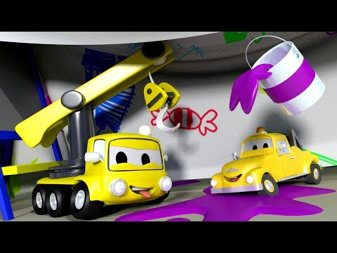 The Playhouse with the Baby Cars in Car City ! - Cartoon for kids