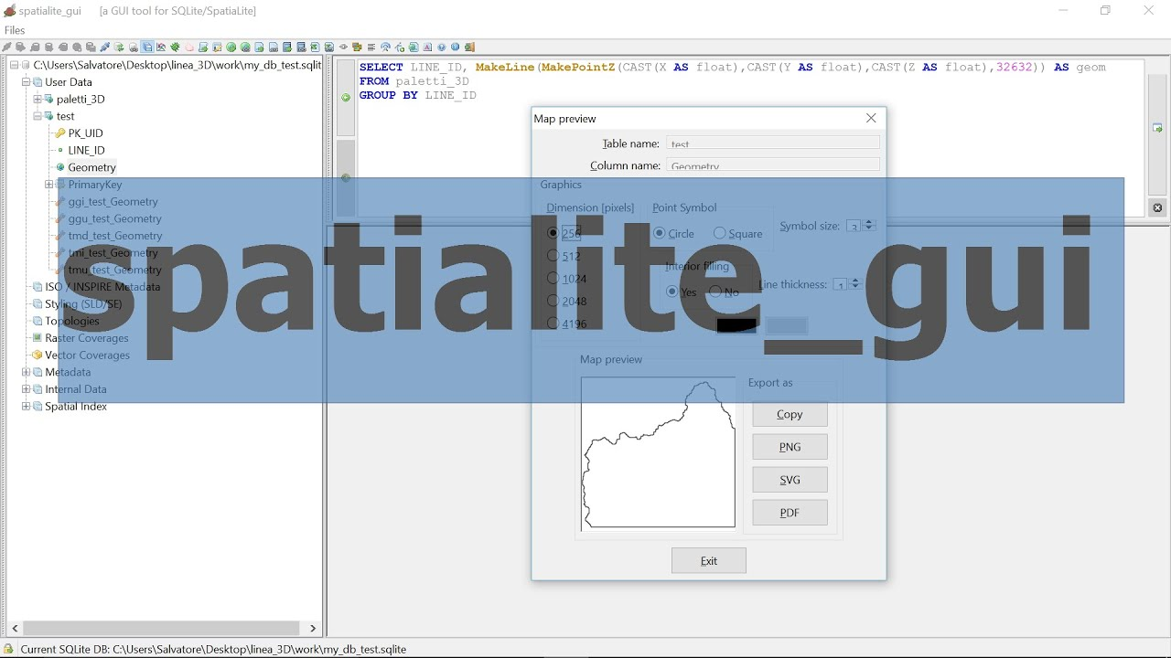 Spatialite Examples