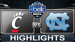 Cincinnati vs North Carolina | 2013 ACC Football Highlights