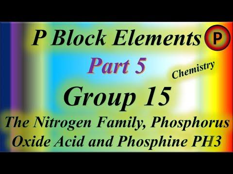 12C1005 P Block Elements, Group 15: The Nitrogen Family, Phosphorus Oxide Acid and Phosphine PH3