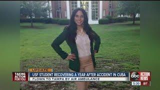 Video USF student Barbara Jimenez overcomes severe car accident injuries to graduate download MP3, 3GP, MP4, WEBM, AVI, FLV Juli 2018