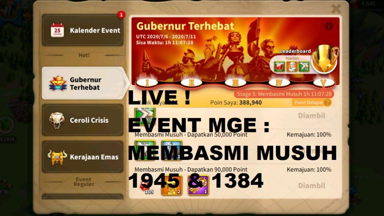 LIVE ! Mighties Governor Event Kingdoms 1945 dan 1384