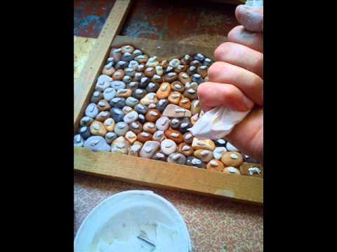 Make pebble floor in shower room youtube make pebble floor in shower room solutioingenieria Image collections