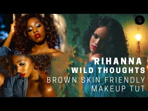 Rihanna WILD THOUGHTS Makeup Tut *Brown Skin Friendly*  | Cocoa Swatches