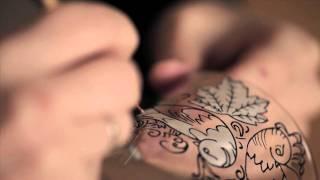 Роспись по стеклу витражными красками. ArtMuller(В небольшом ролике показан весь процесс росписи по стеклу. Создание эскиза, нанесение контура по стеклу,..., 2011-11-11T09:53:06.000Z)