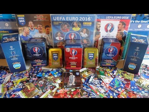 36 Booster Packs & 17 Limited Edition Cards Panini EURO 2016 - FIFA 365 & Champions League Unboxing