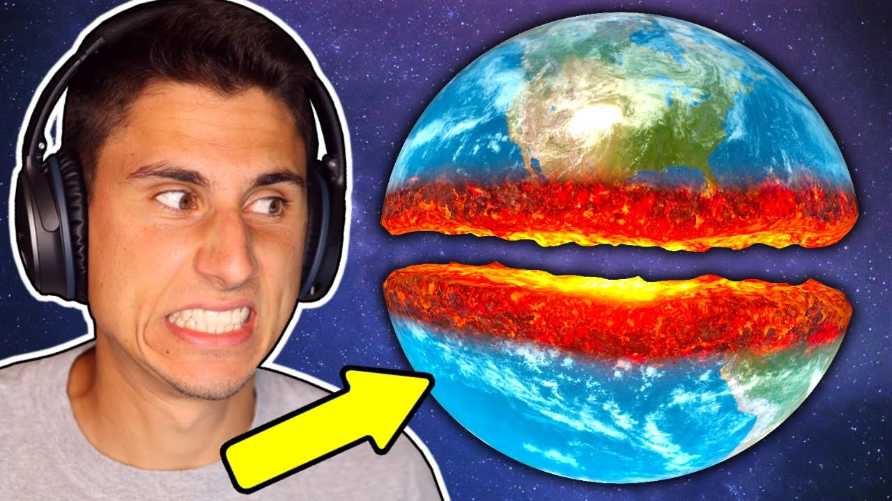 I Cut Planet Earth IN HALF! (Everyone Lived??)