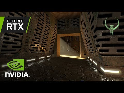 Quake II RTX - GTC 2019 Demo Walkthrough with NVIDIA CEO Jensen Huang (ultrawide)