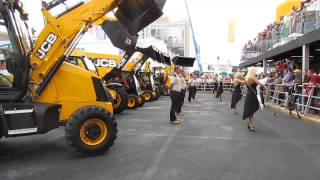 Video still for Dancing Diggers at ConExpo 2014